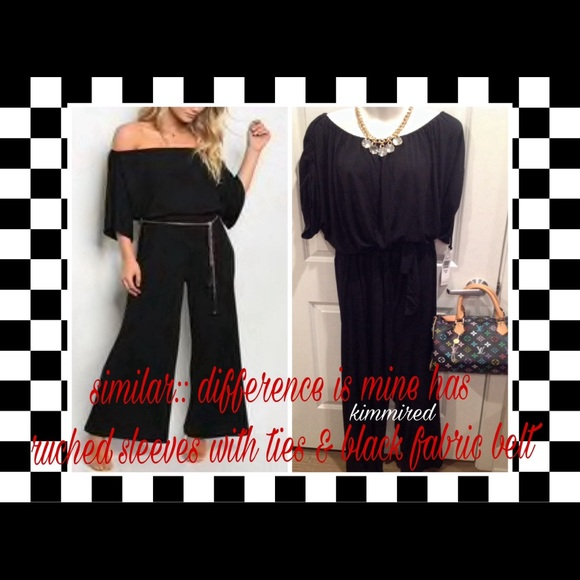 Pants - 🆕Black Off-Shoulder Jumpsuit/Romper/Playsuiit ~3X